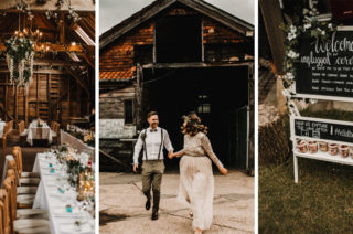 Rustic, Boho, Outdoor Summer Garden Wedding at Herons Farm, Berkshire