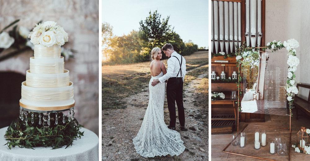 Galia Lahav Mermaid Style Wedding Dress // Longbourn Estate Barn // Images By The Vendrines