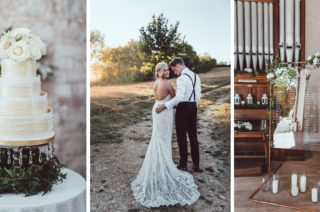 Galia Lahav Mermaid Style Wedding Dress // Longbourn Estate Barn // Images By The Vendrines