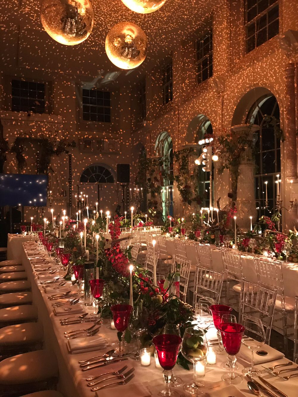 Wedding Reception With Disco Balls