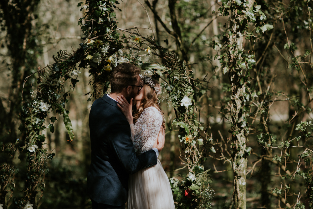 Woodland Wedding With A Botanical Greenhouse Reception