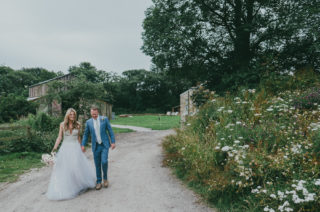 Nancarrow Farm Cornwall Wedding With Bride In Jane Bourvis Gown