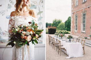 Elegant Summer Inspiration at St Giles House, Dorset by Jessica Roberts Design | Living Coral, White & Green Flowers | Tablescape | Imogen Xiana Photography