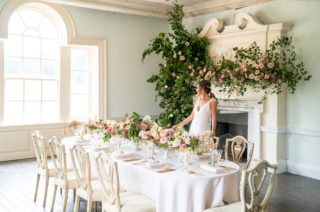 Timeless Romance at Country House West Horsley Place, Surrey | Planned by Rachel Dalton Weddings | Blush Pink & Peach Flowers by Emma Soulsby Flowers | David Wheeler Photography