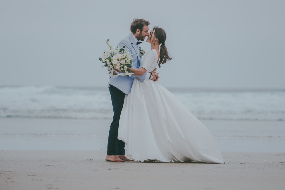 Wedding On The Beach At Lusty Glaze Cornwall