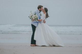 Wedding On The Beach At Lusty Glaze Cornwall