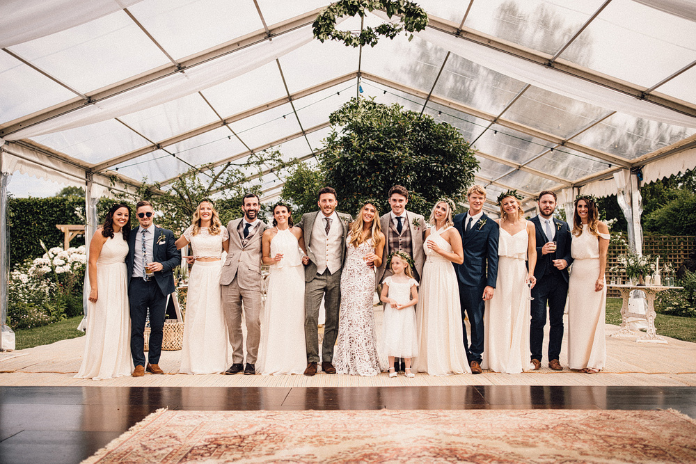 Clear Span Marquee For A Summer Wedding With Bride In 'Sasha' By Made With Love