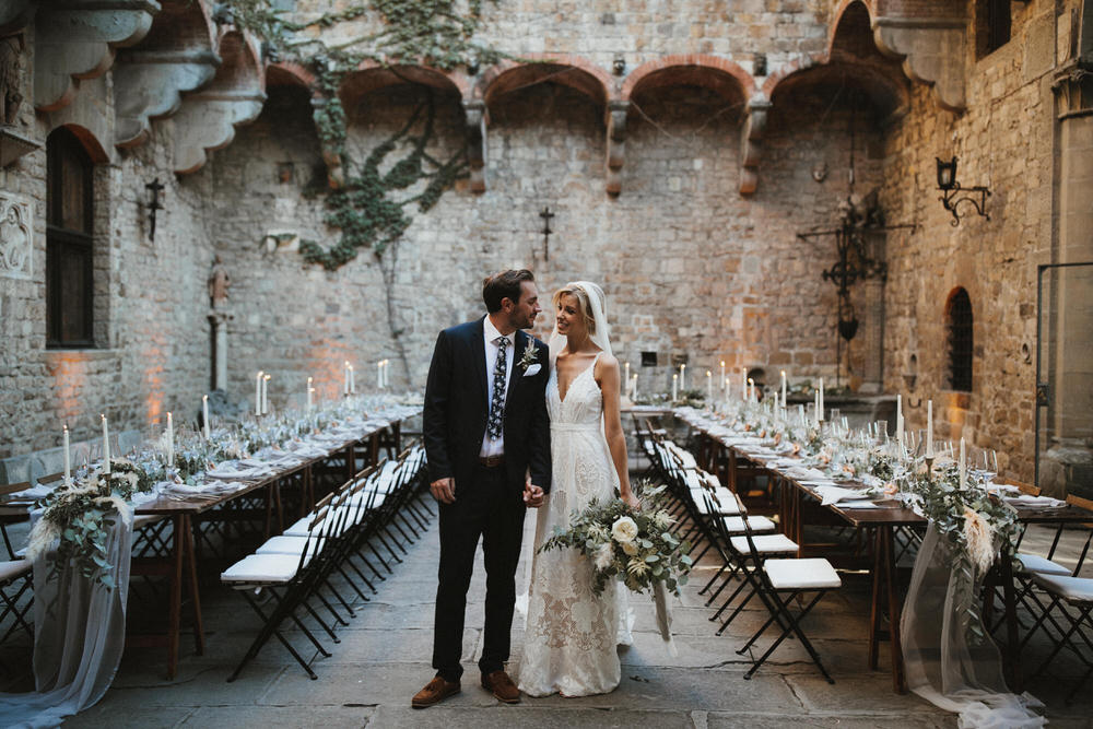 Dreamy Italian Destination Wedding At A Tuscan Castle