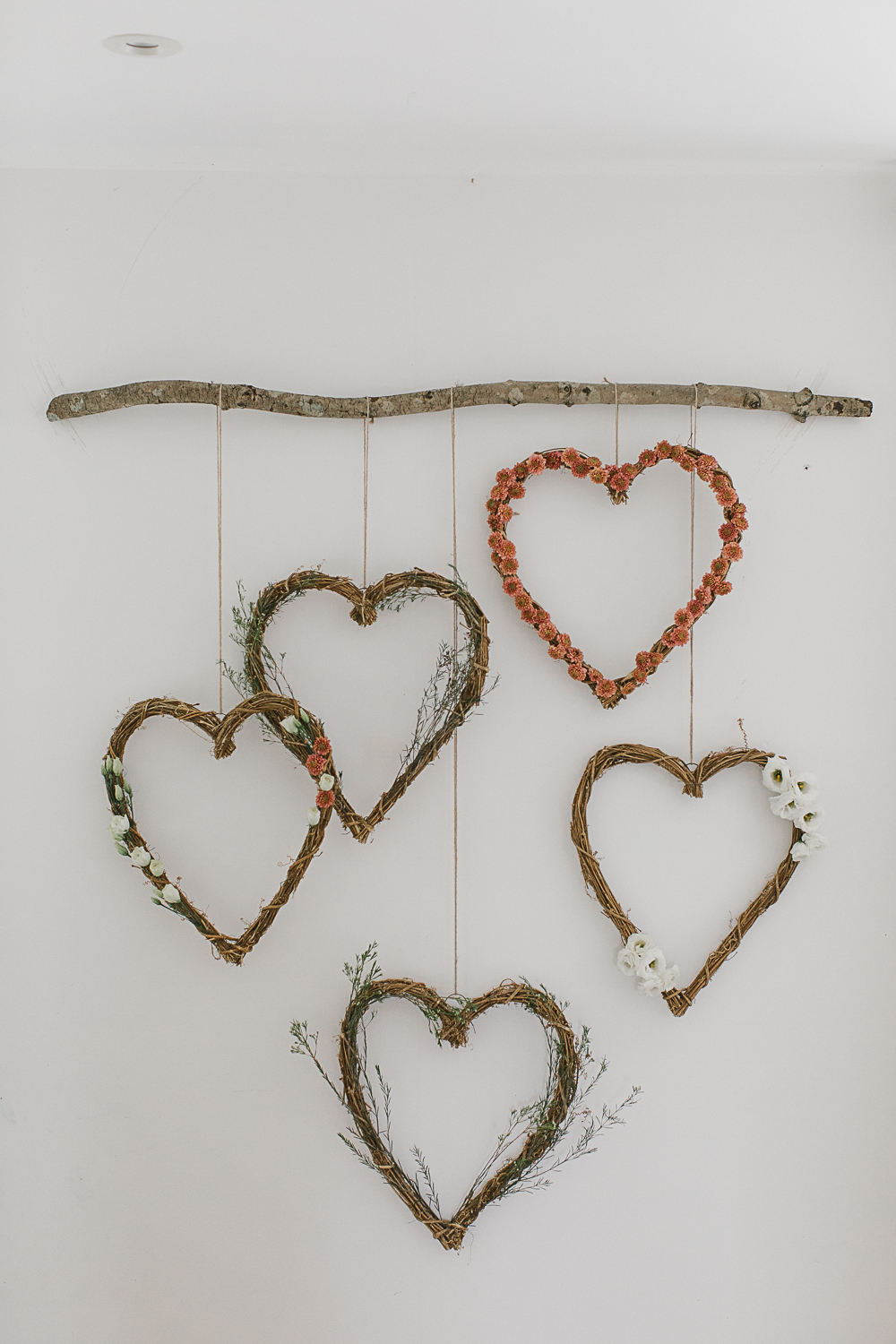 RMW DIY Hanging Floral Heart Wreath Tutorial for under £50!