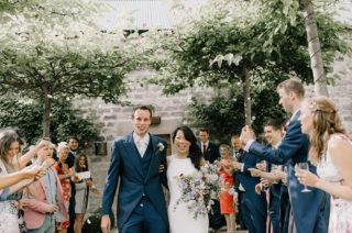 Healey Barn Countryside Wedding with Wild Flowers and Bride in Pronovias | Pronovias Wedding Dress | Georgina Harrison Photography