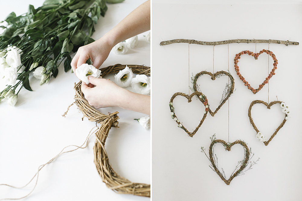 DIY floral heart wreath decor/photo backdrop for under £50
