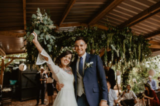 Macramé & Dreamcatcher Woodland Wedding at Upthorpe Wood | Outdoor Humanist Ceremony | ReWritten Bridesmaids | Glitter Bar | Camilla Andrea Photography