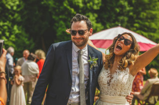 Pennard House Outdoor Country Garden Wedding | Summer Wedding | Grey/Silver ASOS Maya Bridesmaid Dresses Howell Jones Photography