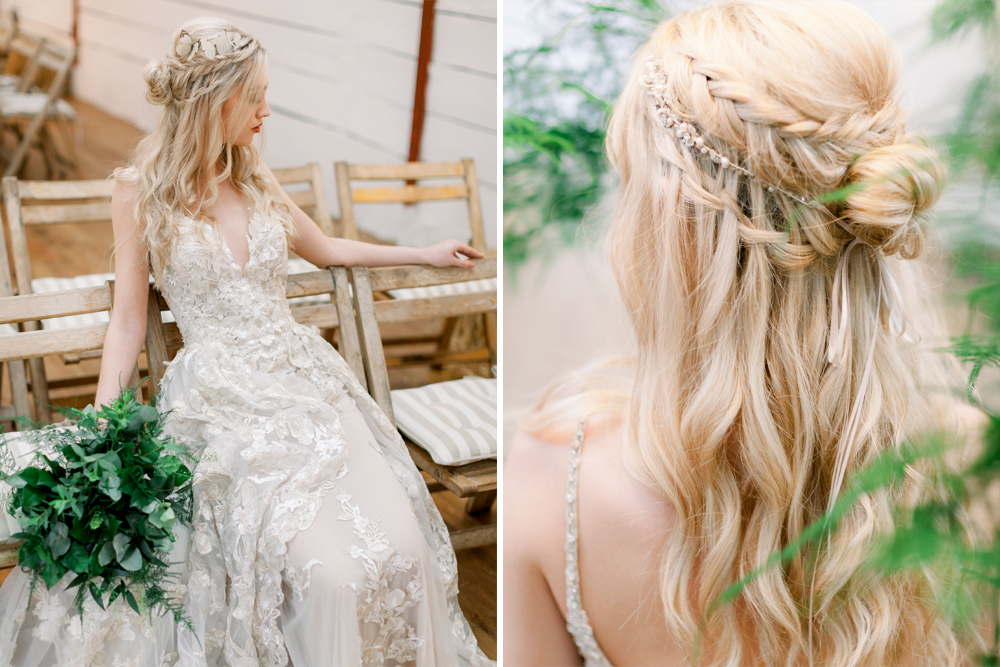 Beautiful Wedding Hairstyle For Long Hair Perfect For Any: Beautiful Bridal Half Up Half Down Wedding Hair Inspiration