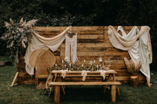 Nude Bohemian Wedding Inspiration | Wonderland Invites | Pampas Grass | Boho Wedding Decor | Lace Wedding Dresses | Kelsie Low Photography