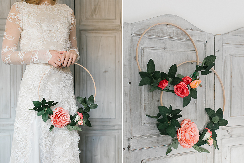 DIY Tutorial: Hoop Bouquet