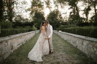 Fairytale Tuscan Wedding with Bride in Embroidered Dress | Rara Avis Dress | Tenuta La Fratta, Tuscany | Naked Cake | Andrea & Federica Photography