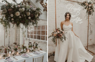 Romantic Pink & Gold Wedding Inspiration in a Modern Summer House at Garthmyl Hall by KnockKnockPenny Studio | | Nesta Lloyd Photography