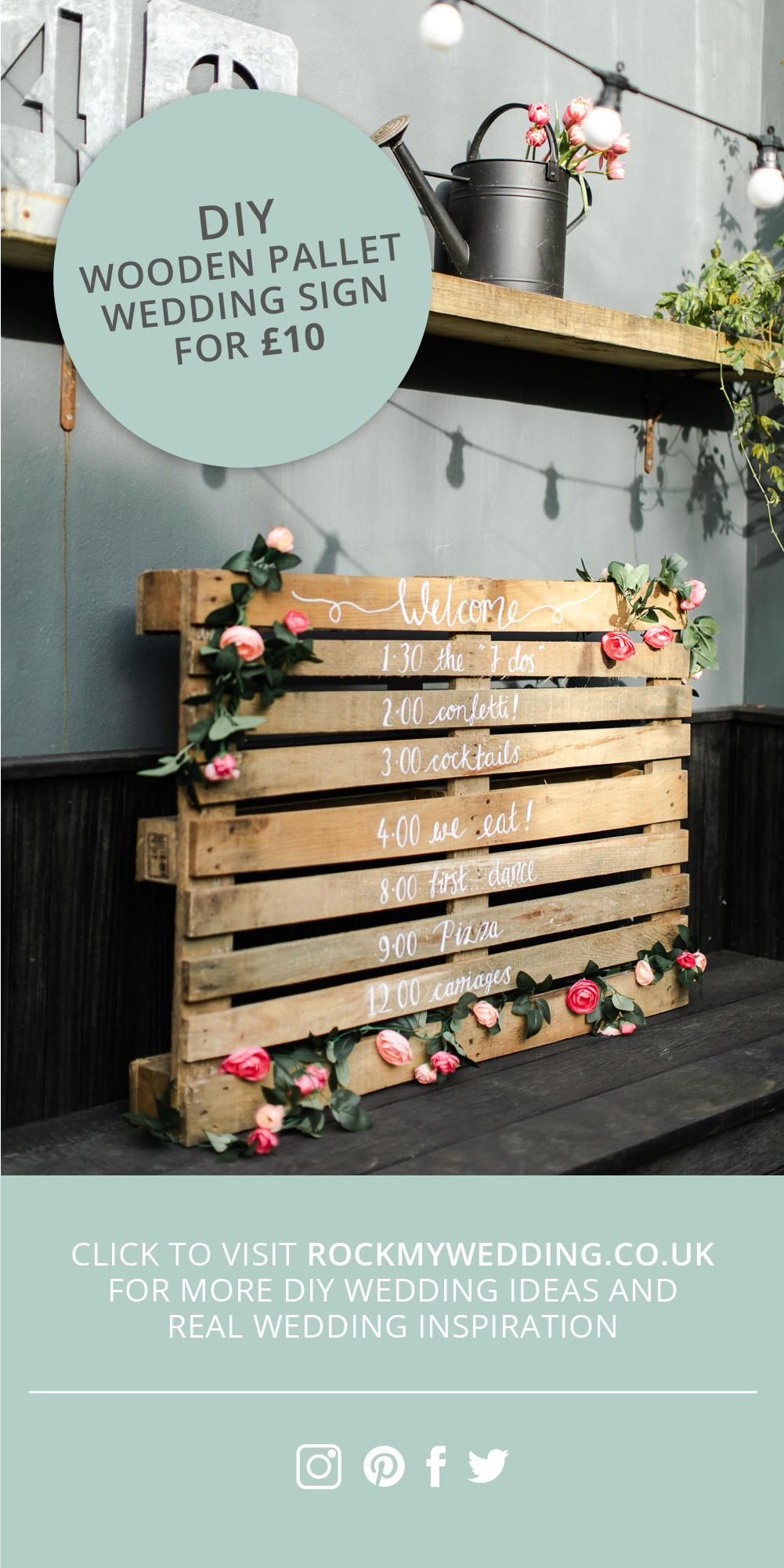 How to Make a DIY Wooden Pallet Order of the Day Wedding Sign for £10