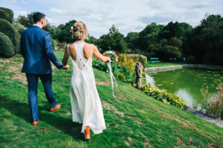 Colourful Pennard House Wedding With Bride Wearing Racerback Dress | Alexander Wang Wedding Dress | ASOS Bridesmaids Dresses | Allison Dewey Photography