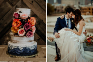 Rifle Paper Co. Trainers for Informal Wedding in Fort Worth, Texas | Stella York Wedding Dress | Pinwheel Reception Tables | Paul & Nanda Photography