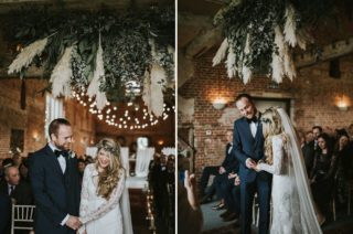Rue De Seine Bride For A Foliage & Pampas Grass Wedding At Godwick Hall With Props From The Little Lending Co & Images By Darina Stoda