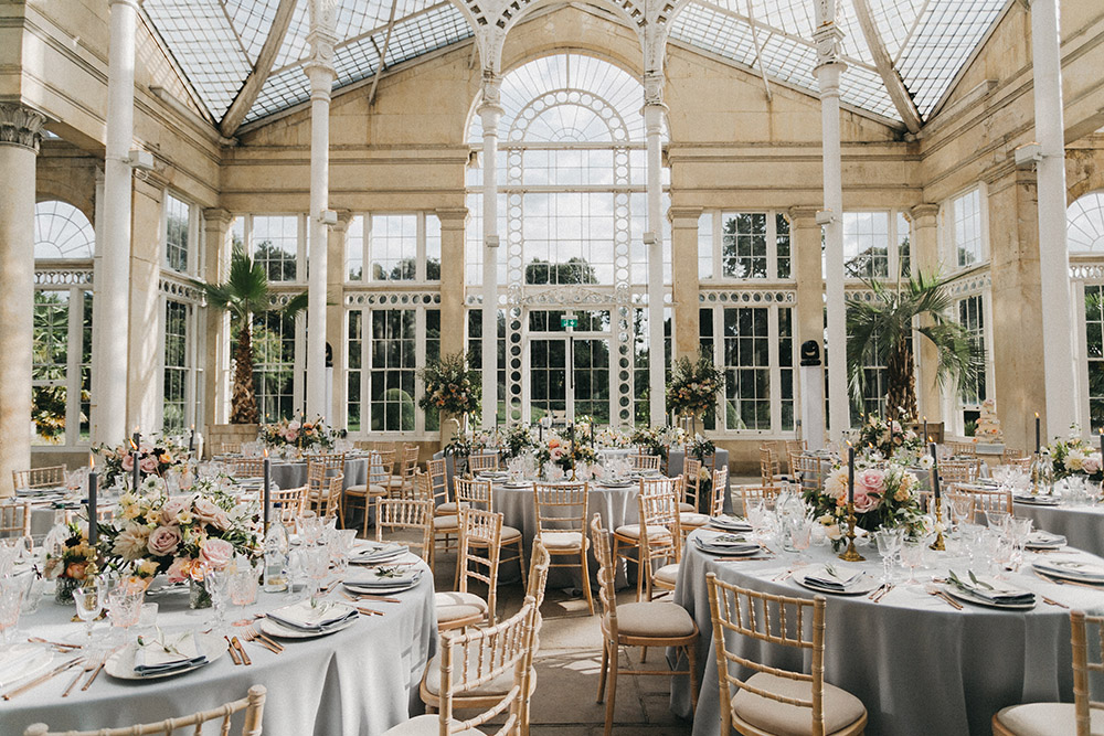 Stunning Syon Park Wedding with Quill Stationery Suite | Hermione de Paula Wedding Gown | Navy Lanvin Tuxedo | Nancy Ebert Photography
