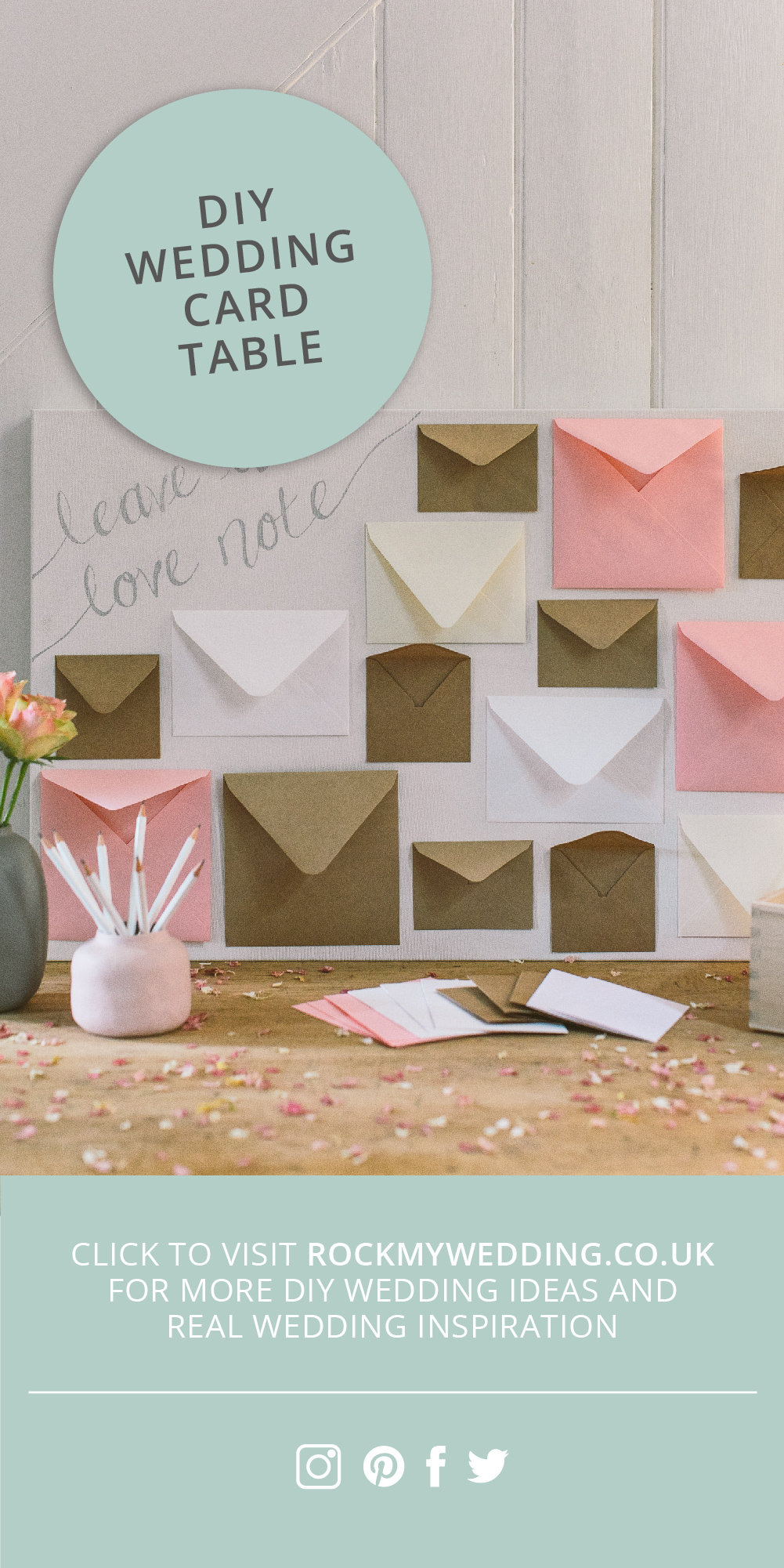DIY Leave a Note Alternative Wedding Guest Book