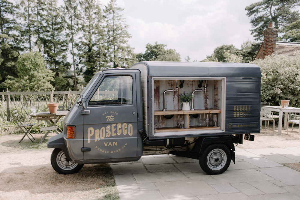 Prosecco Van by Bubble Bros - wedding details