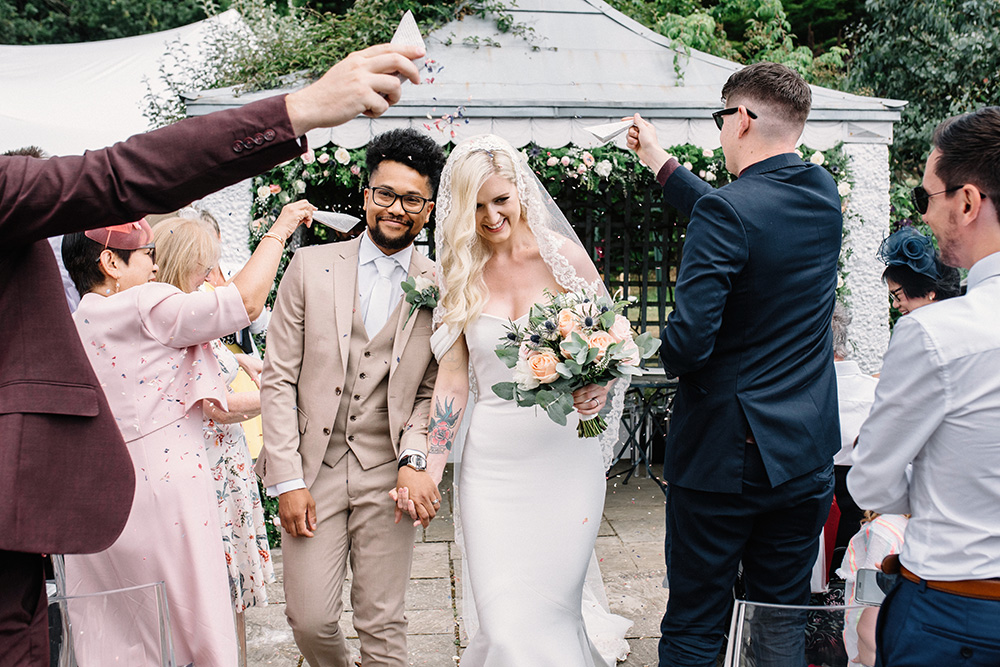 BBQ Wedding at The Old Rectory in Hastings with Fitted 'Raciela' Pronovias Gown, Sweetheart Table and Ghost Chairs, shot by Georgina Piper Photography