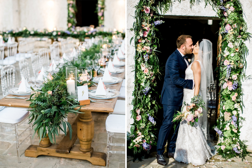 Cyprus Wedding at Anassa Resort, Planned by Splendid Events with Floral Arch, Ghost Chairs & Lace Anna Georgina Wedding Dress by Theo Georgiades Photography