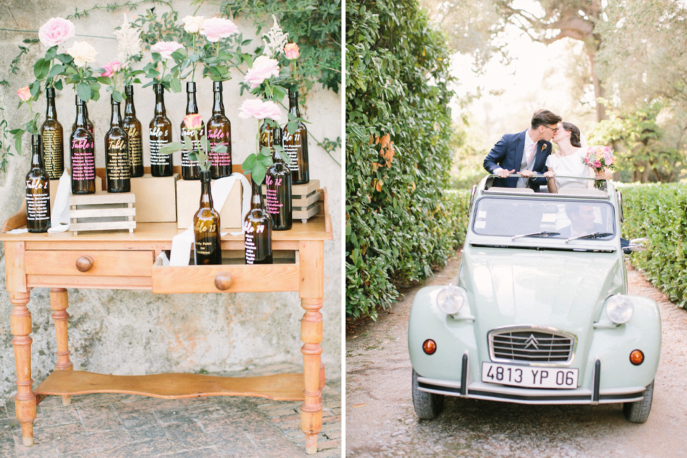 South of France Wedding with Rime Arodaky Wedding Dress and Bright Wedding Flowers Planned by Made in You & Photogtpgraphed by Saya Photography