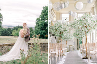 Romantic Aynhoe Park Wedding with Pastel Pink Flowers and Needle & Thread Bridesmaid Dresses