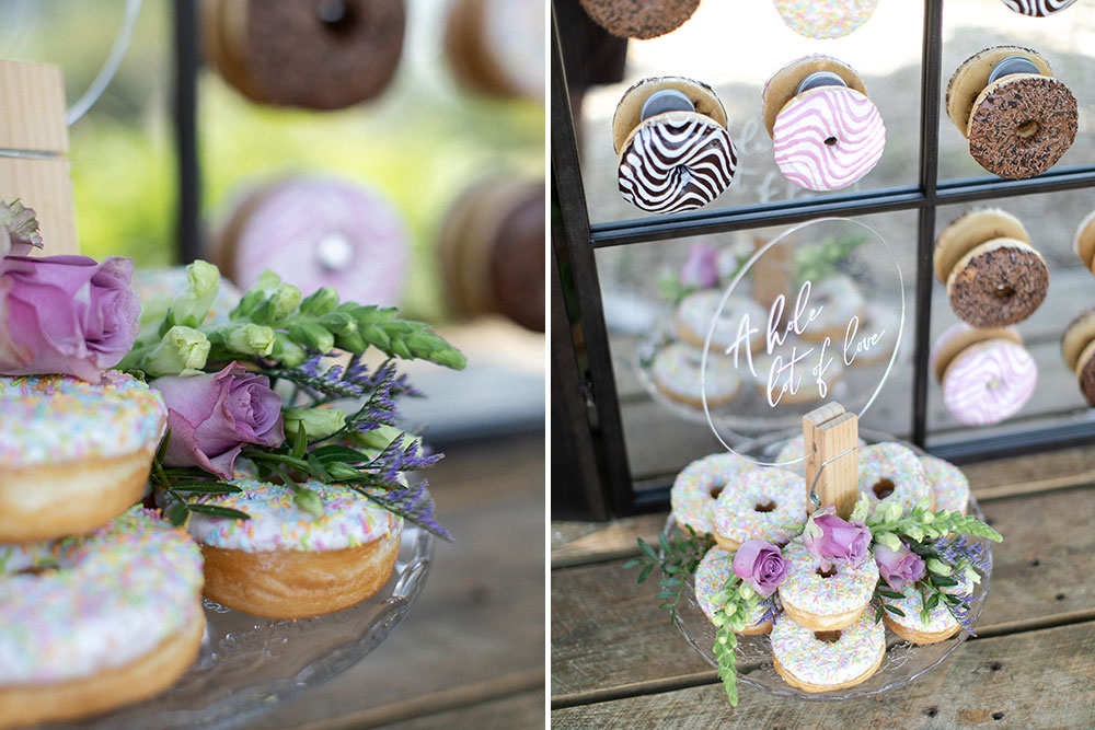 Doughnut Wall Donut Wedding DIY