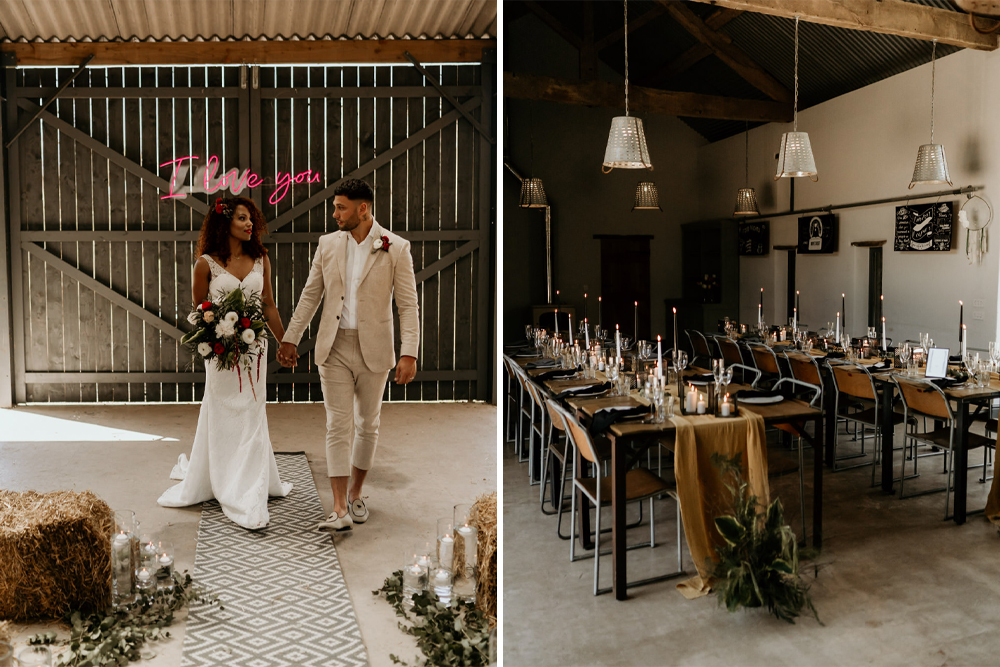 Black Brides Matter Inclusive Wedding Inspiration at The Barn at Drovers Styled by AKA Event Styling and Photographed by Leesha Williams