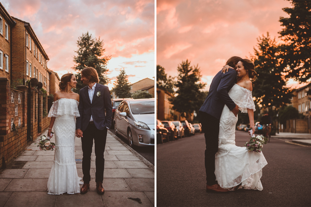 Emanuela Grace Loves Lace Wedding Dress for an Intimate Wedding at Former Victorian Pub The Roost in Dalston, London by Alexa Penberthy Photography