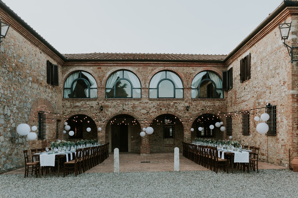 Tuscan Wedding at Villa Boscarello with Bride in Sottero & Midgley Wedding Dress and Adorable First Look by Silvia Falcomer Photography