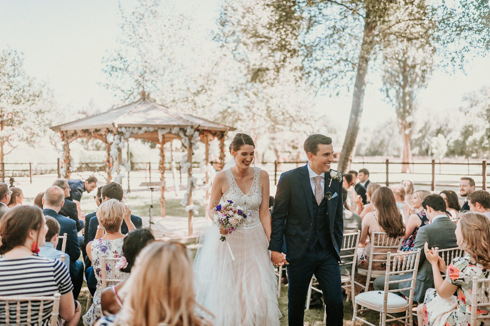 Home Wedding on Brides Parents Farm with DIY Horse Box Photo Booth & Hoop Table Plan & Bride in Pronovias Danaia Wedding Dress by Alice Cunliffe Photography