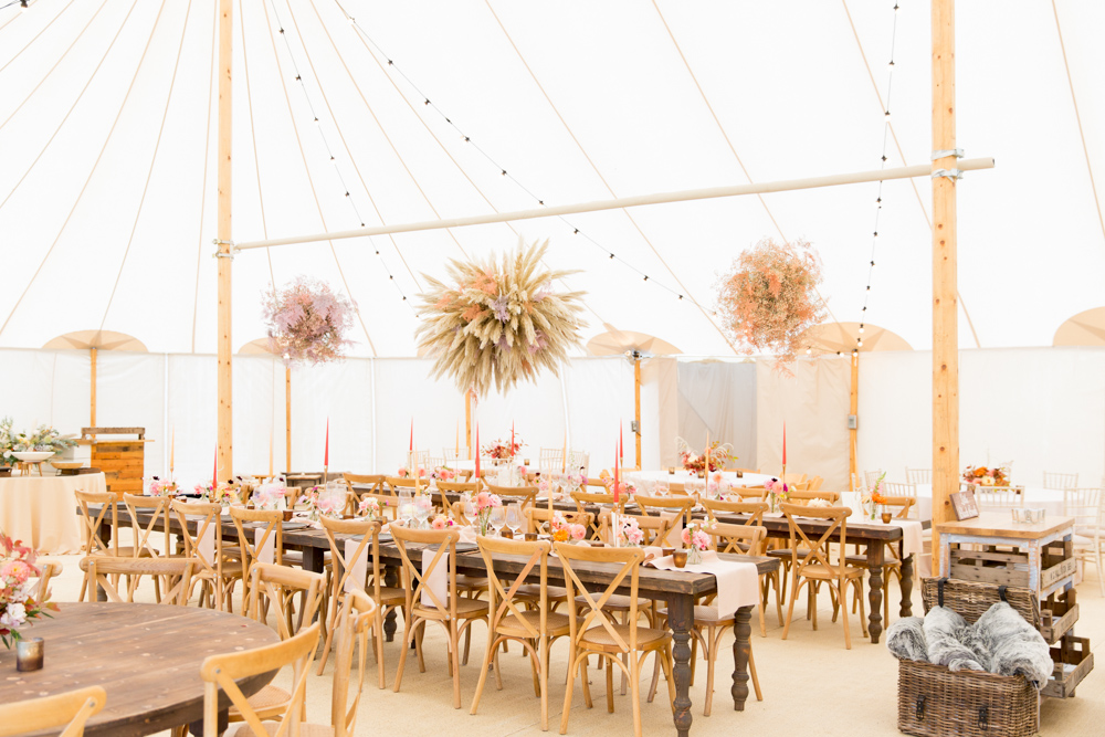 PapaKåta Autumn Open Weekend 2019 Showcasing Sperry Tents and Giant Teepees with Dried Wedding Flowers at Stonor Park by Helen Warner Photography