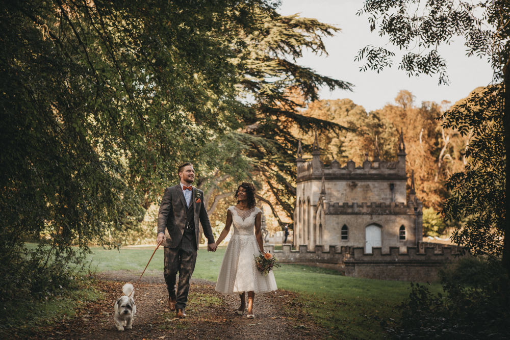 Two Day Village Hall Wedding with Pizza & Fish & Chips Foor, DIY Decor and Bride in Tea Length Wedding Dress by The George's Photography