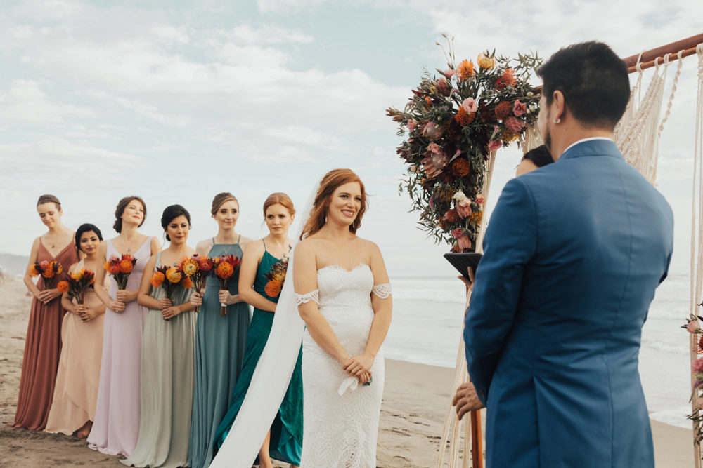 colourful bridesmaid dresses