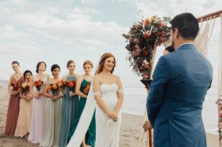 colourful bridesmaid dresses