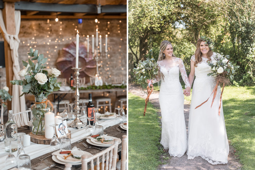 Rustic, Boho, Same-Sex Wedding at Coed Hills in the Vale Of Glamorgan by South Wales Wedding Photographer Eleanor Jane Photography