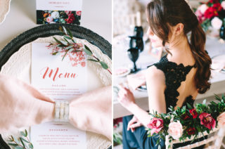 Wedding Inspiration with Black and Red Colour Scheme & Gold Accents
