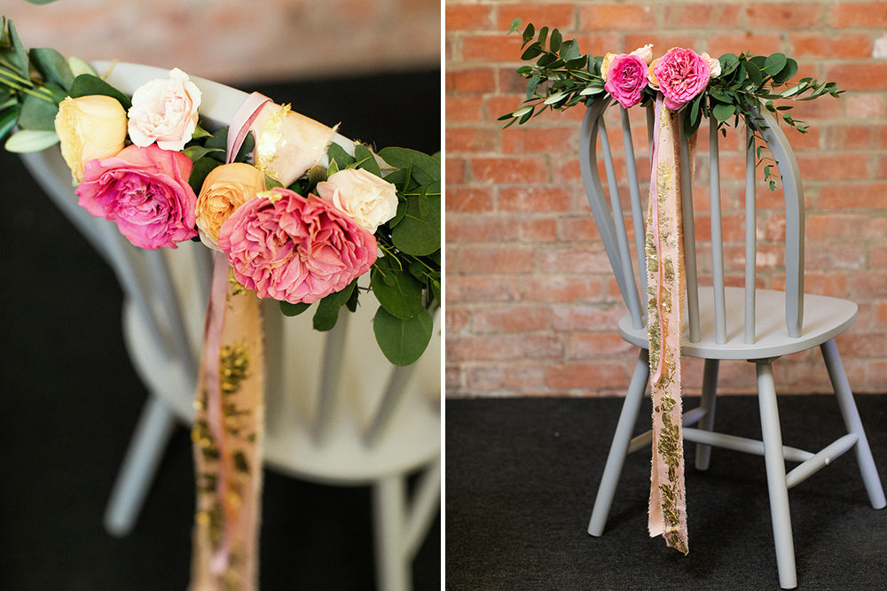 How to make Wedding Chair Decorations with flowers and foliage