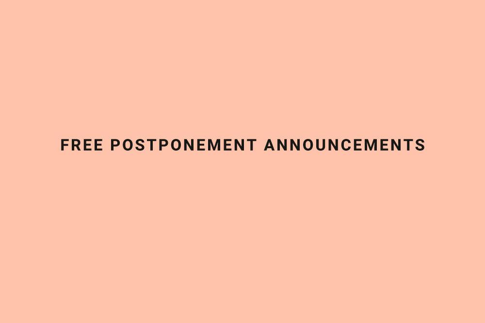 postponed wedding announcement