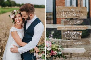 DIY Wedding Decor With Booze Bath At Warwickshire Wedding Venue