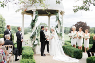 Froyle Park Wedding with White Flowers, Foliage and Acrylic Signs
