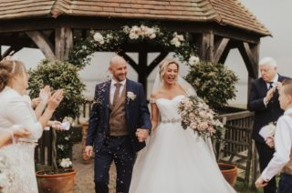 Rustic Outdoor Wedding at The Ferry House Inn with Vintage Tractor Ride