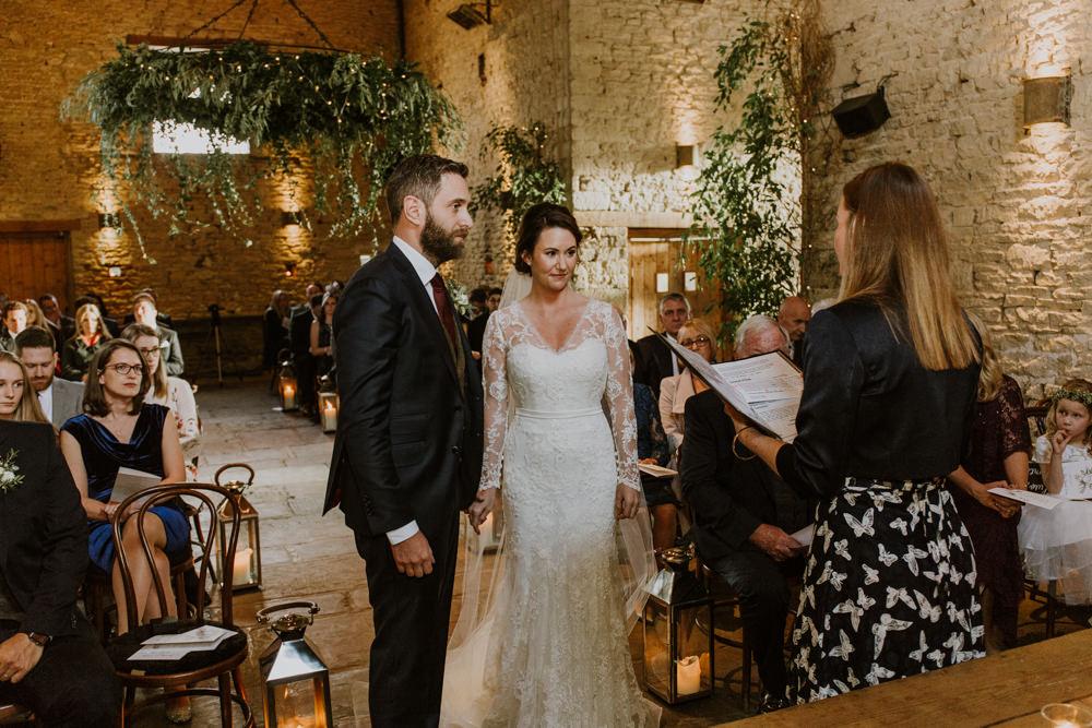 80146cfedd Rustic Cripps Barn Winter Wedding with Annasul Y Violet Bridal Gown